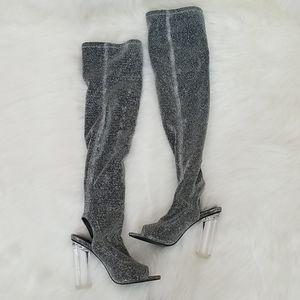 Charlotte Russe Glitter OTK boots!
